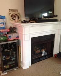 removing ventless gas fireplace and