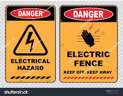 Set Danger High Voltage Signs Danger Stock Vector Royalty Free 271504574