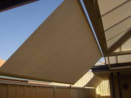 Retractable Shadeblind Attached To Fence Outdoor Blinds Blinds Fence
