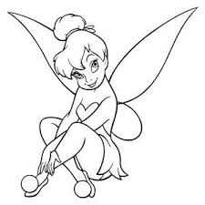 Tinkerbell Sitting Vinyl Decal