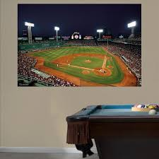 Inside Fenway Park At Night Mural Boston Red Sox Mlb Sports Wall Decor Boston Red Sox Sports Wall Decals