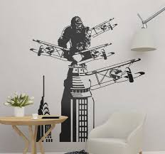 Kingkong On A Tower With Planes Cinema Decal Tenstickers