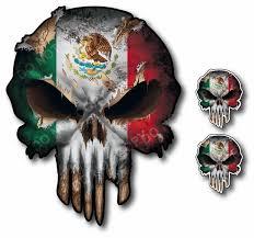 Mexico Punisher Skull Vinyl Decal Sticker Jeep Truck Car Low Priced Decals Lots Of Designs