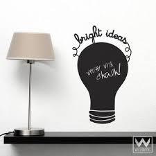 Bright Ideas Modern Chalkboard Decal Graphic Decrative Wall Sticker Wallternatives