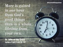 carmelite quotes on how are you spending your time god