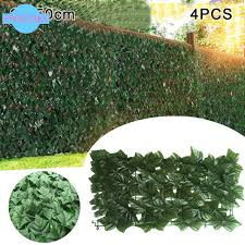 4pcs Artificial Leaves Hedge Garden Decoration Fence Privacy Screen Mesh Beauty Outdoor 25 50cm Shopee Malaysia