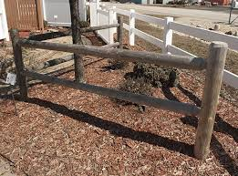 A Round Rail Fence Is More Refined Than The Rugged Look Of Split Rail Cedar Posts Are Milled Into 8 Or 10 Foot Rails And Fence Construction Cedar Posts Fence