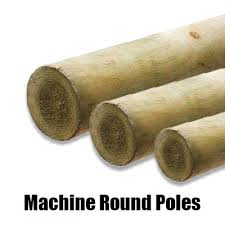 Machined Round Poles 100mm Chiltern Timber