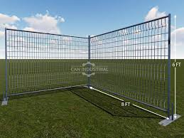 6 X 8 Feet Round Pipe Galvanized Temporary Fence Panels