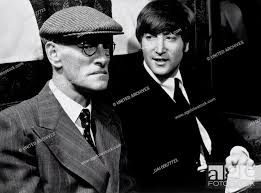 A HARD DAY'S NIGHT UK 1964 Richard Lester WILFRID BRAMBELL as Grandfather  and JOHN LENNON as John in..., Stock Photo, Picture And Rights Managed  Image. Pic. UAI-00677723 | agefotostock