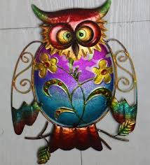 decorative wrought iron metal wire owl