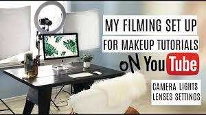 filming set up for makeup tutorials