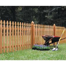 Outdoor Essentials 4 In X 4 In X 5 Ft Western Red Cedar French Gothic Fence Post 2 Pack 237828 The Home Depot Wood Picket Fence Picket Fence Panels Wood Fence