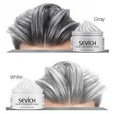 hair wax silver grey temporary hair dye