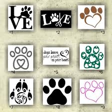 Paw Prints Vinyl Decals 1 9 Custom Car Window Stickers Personalized Vinyl Stickers Wall Decals Paw Prin Paw Print Stickers Vinyl Decals Wall Stickers