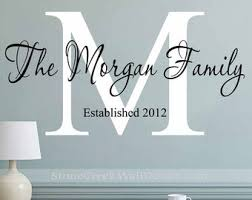 Monogram Wall Decal Etsy