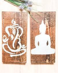buddha wall art on wood ganesh