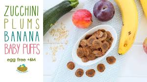 banana plums zucchini baby puffs recipe