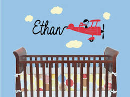 Airplane Plane With Custom Name Vinyl Wall Decal Sticker Children S Bedroom Art Ebay