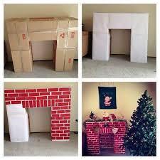 wonderful diy cardboard fireplace