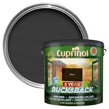 Cuprinol 5 Year Ducksback Black Matt Fence Shed Wood Treatment 9l Departments Diy At B Q