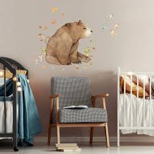 Big Brown Bear Wall Sticker For Fun Kids Room Decor Made Of Sundays