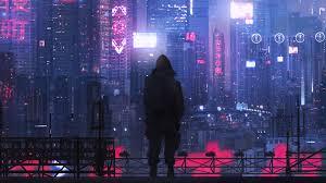cyberpunk city buildings sci fi 4k
