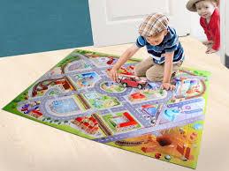 children s play mat large city map