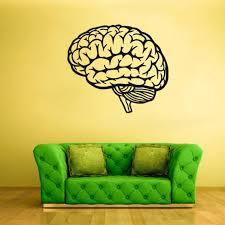 Brain Wall Decal Genius Smart Mind Rvz1751 Etsy
