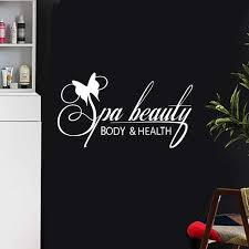 Massage Spa Decal Beauty Salon Sticker Beauty Posters Vinyl Wall Decals Decor Mural Beauty Salon Spa Sticker Wall Stickers Aliexpress