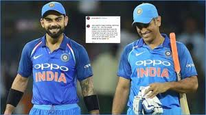 you will always be my captain virat kohli pays ultimate tribute