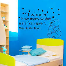 Shop Winnie The Pooh Quote I Wonder How Many Wishes A Star Can Give Vinyl Sticker Nursery Decor Sticker Decal Size 33x39 Color Black On Sale Overstock 14776587