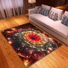 3d Cool Flower Carpet Living Room Kitchen Foyer Floor Mat Colorful Floral Rug Bedroom Soft Parlor Sofa Carpet Kids Room Tapete Carpet Aliexpress