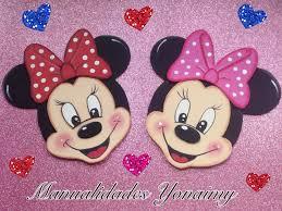 Minnie Mouse Hecha Con Foamy O Goma Eva Para El Cumple 1 De