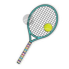 Tennis Racket Ball Car Decal Colorful Tribal Pattern Sporty Etsy