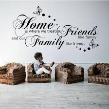 Family Friends Home Quote Wall Art Sticker Transfer Decal Mural Bedroom Wsd483 Ebay