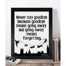 vintage peter pan disney quotes unframed a print poster christmas