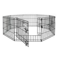 Foldable Play Fence 8 Panels Black With Door Shopee Philippines