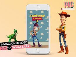 Mira Nuestro Nuevo Producto Toy Story Invitacion En Video