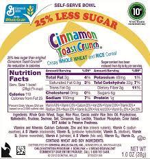 cinnamon toast crunch food label