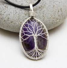 sterling silver natural amethyst