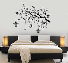 Wall Decal Branch Tree Moon Lantern For Bedroom Vinyl Sticker Etsy