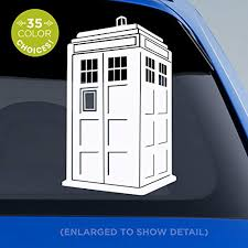 Amazon Com Doctor Who Tardis Decal 3d Blue Police Box Tardis Sticker Dr Who Decal For Car Windows Mugs Glasses Walls Vinyl Sticker Made With Outdoor Vinyl Handmade