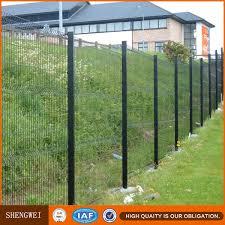 top quality welded steel garden fence