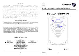 Https Www Nemtek Co Za Documents Installer Manual Merlin 3 Pdf