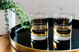 personalized whiskey glasses set of 2