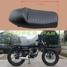 motorcycle black flat brat style