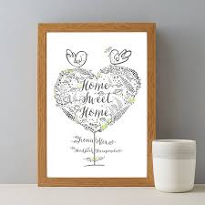 home sweet home couples gift print