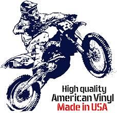 Amazon Com Dirt Bike Motocross Vinyl Decal Ktm Sport Wall Mural Sticker Sport Bike Decals Custom Color Vinyl Stekers Decor For Bedroom Nursery Boys Room 22x23 Home Kitchen