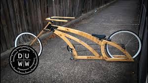 handmade bad wooden chopper bike